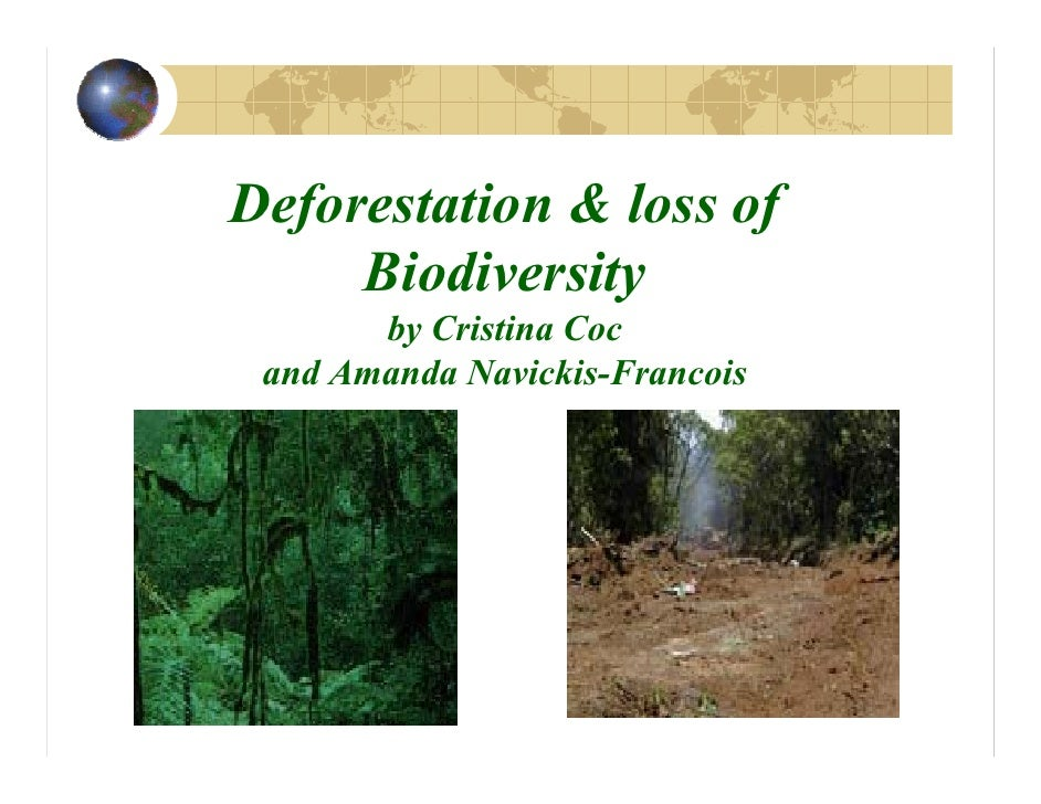 Deforestation & loss of Deforestation & loss of      Biodiversity      Biodiversity        by Cristina Coc         by Cris...