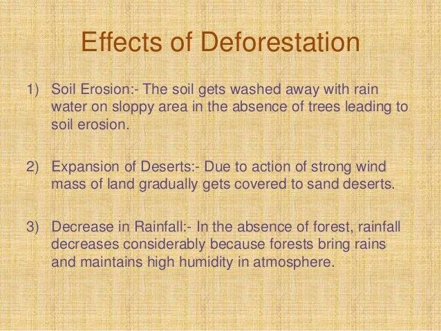5 major effects of deforestation