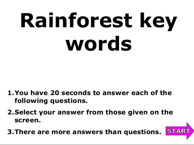 Deforestation key words