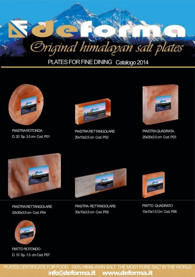 Deforma catalogo piastre di sale 2016