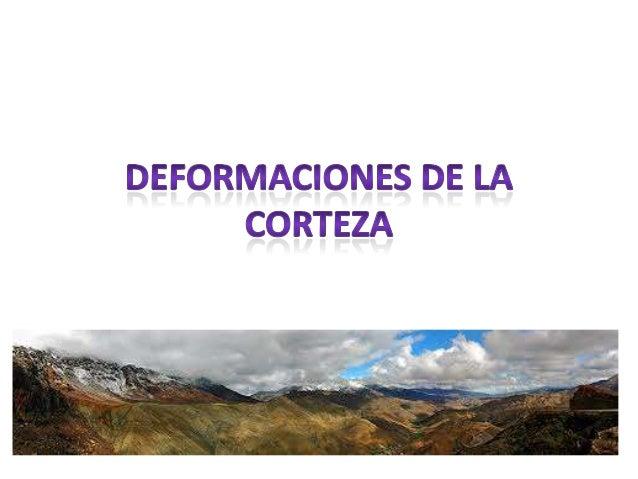 ÍNDICE• Formación de las cordilleras• Tipos de orógenos• Deformaciones de las rocas• Tipos de deformaciones• Factores que ...