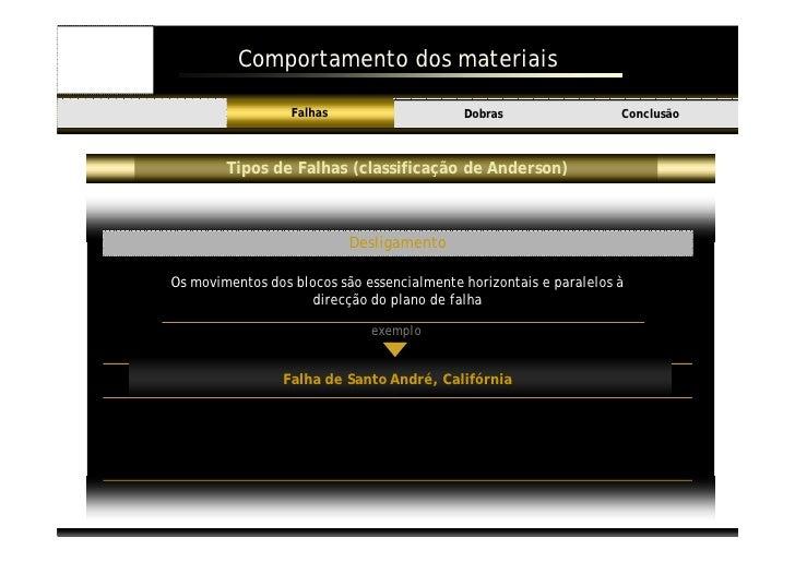 Comportamento dos materiais                             Falhas                    Dobras                  Conclusão Introd...