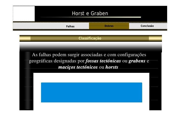 Horst e Graben                                              Dobras    Conclusão Introdução         Falhas                 ...