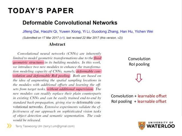 Deformable Convolutional Network (2017) Slide 2