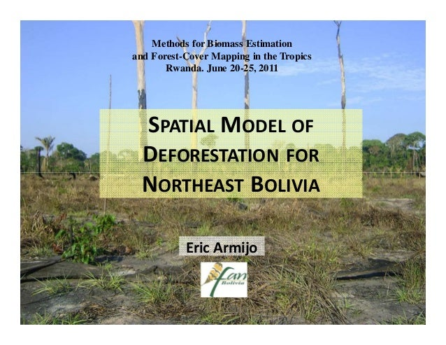 Methods for Biomass Estimationand Forest-Cover Mapping in the Tropics       Rwanda. June 20-25, 2011  SPATIAL MODEL OF  DE...