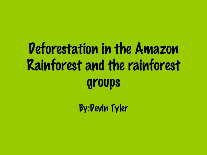Deforestation in the Amazon Rainforest and the rainforest groups By:Devin Tyler