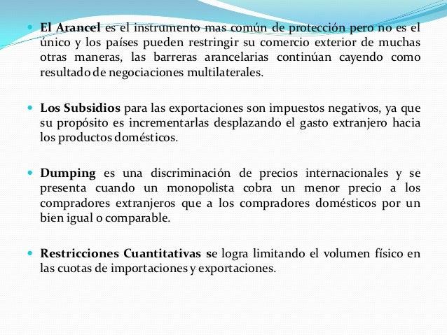 Definicion politica comercial 2012 obj justif organ y for Definicion exterior