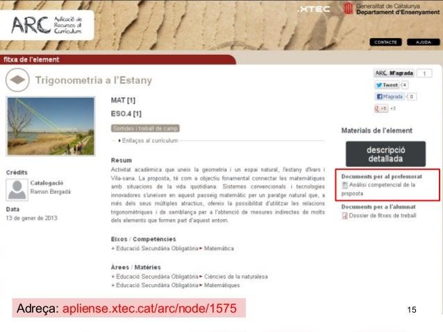 Adreça: apliense.xtec.cat/arc/node/1575   15