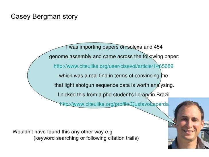 Casey Bergman story I was importing papers on solexa and 454  genome assembly and came across the following paper: http://...