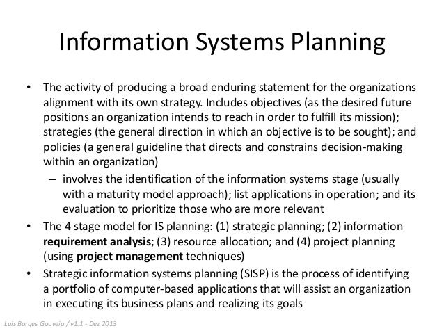 Information system planning research paper