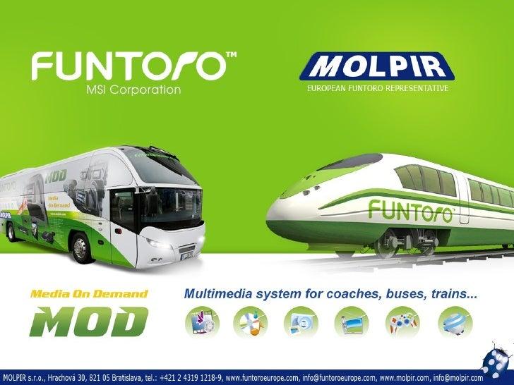 Media on Demand – Unterhaltung in Bus   •   Einzigartige unabhängige Multimedia-System mit bis zu 72 Benutzer auf dem Serv...