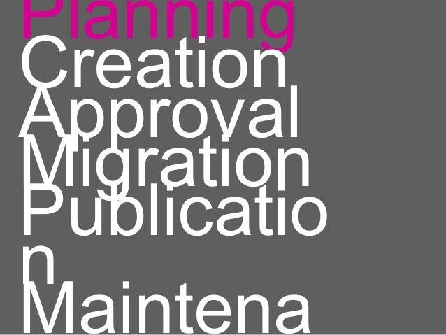 PlanningCreationApprovalMigrationPublicationMaintena