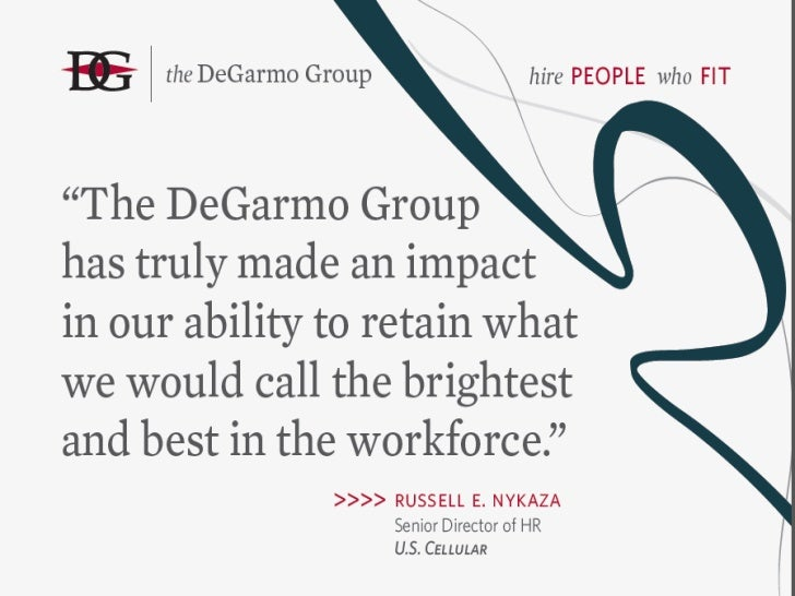 DeGarmo Group: Where Science and Practice Meet