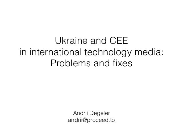 Ukraine and CEE 