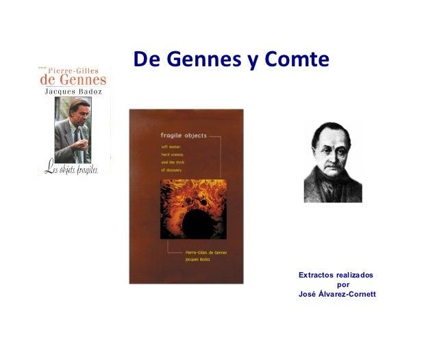 De Gennes y Comte                         Extractos realizados                                  por               ...