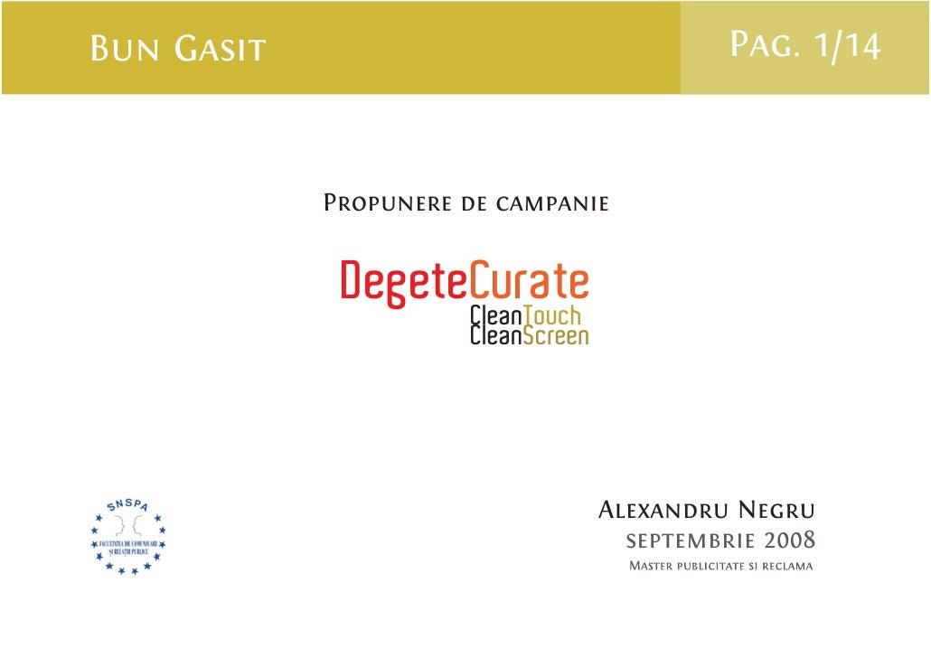 Bun Gasit                                     Pag. 1/14               Propunere de campanie                DegeteCurate   ...