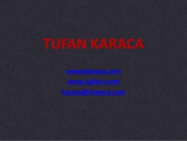 TUFAN KARACA www.tkaraca.com www.işplanı.com karaca@tkaraca.com