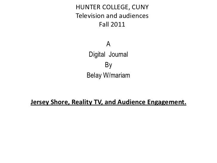 HUNTER COLLEGE, CUNY              Television and audiences                       Fall 2011                          A     ...