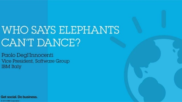 Paolo Degl'Innocenti - Who Says Elephants Can't Dance?