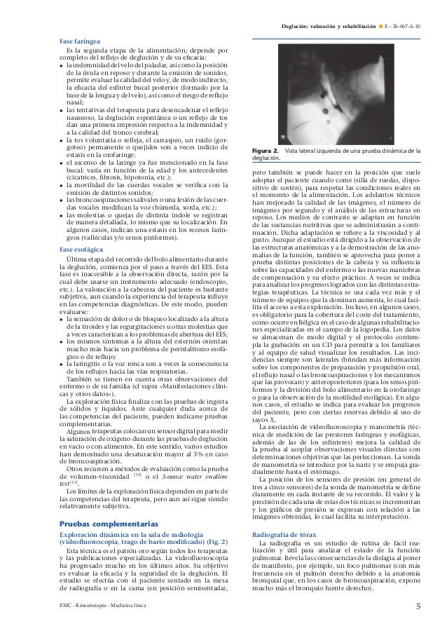 Deglución valoración y rehabilitación