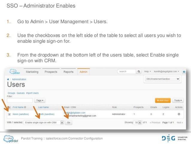 DEG presents an tutorial for Pardot's salesforce.com Connector