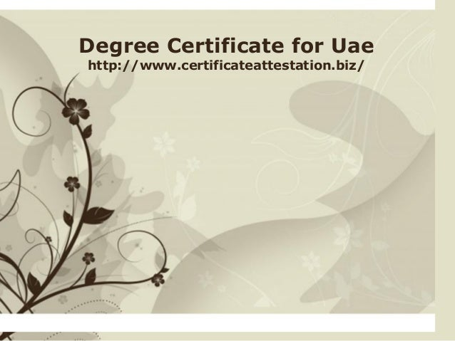 Degree certificate for uae click here to download this powerpoint template brown floral background free powerpoint template for more toneelgroepblik Choice Image