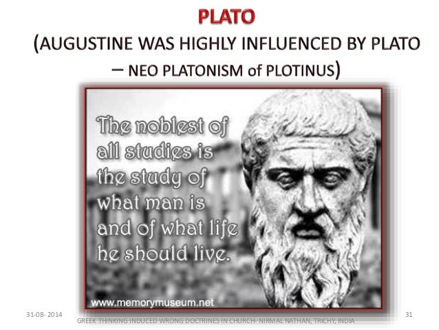 plato and aristotle influence augustine and aquinas Aquinas's greatest influence on intellectual history was his shifting attention from the works of plato to those of aristotle  augustine saw plato's.