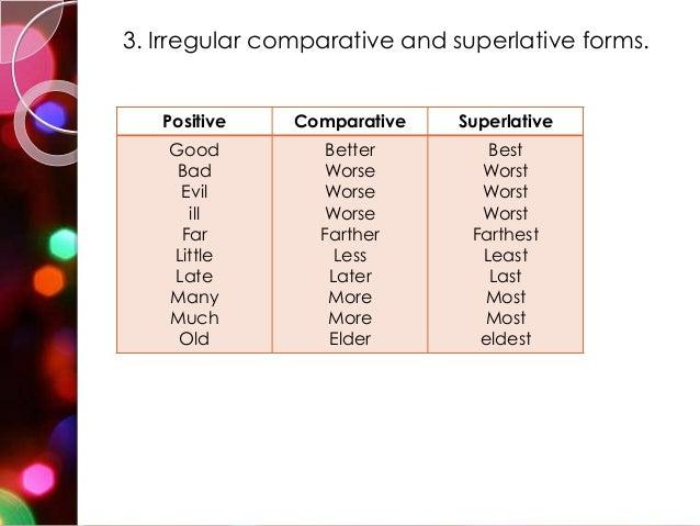Degree of Comparison (SMT-1)