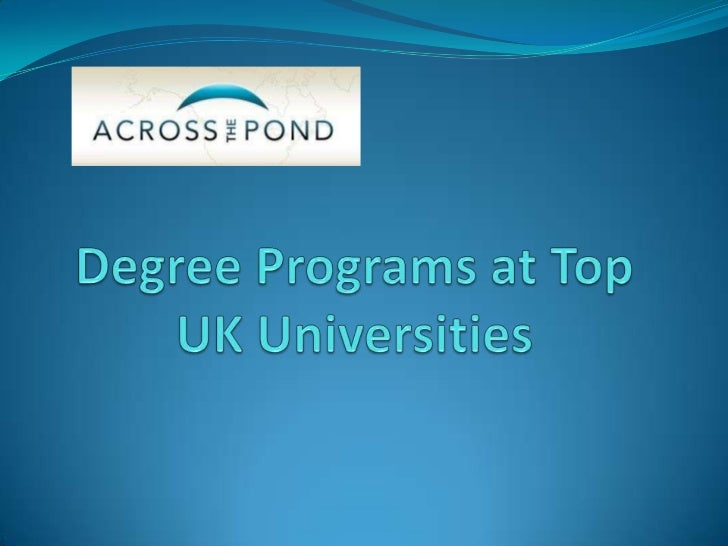 Graduate degrees with the BestUniversities in the UKWhether you were previously a Study Abroad student and wish to return ...
