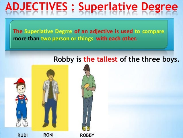 superlative and comparative adjectives worksheet