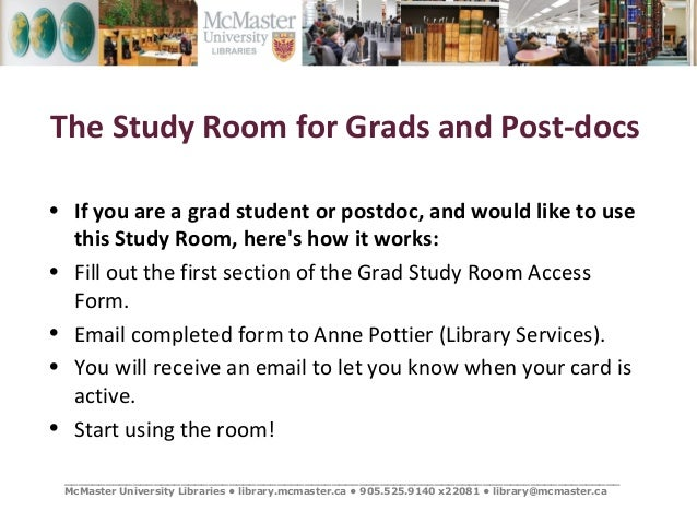 Mcmaster Library Study Room