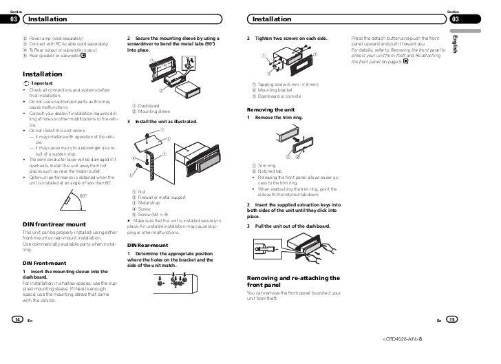 Pioneer Radio Deh 15ub Wiring Diagram : Pioneer deh ub stereo wiring diagram p mp