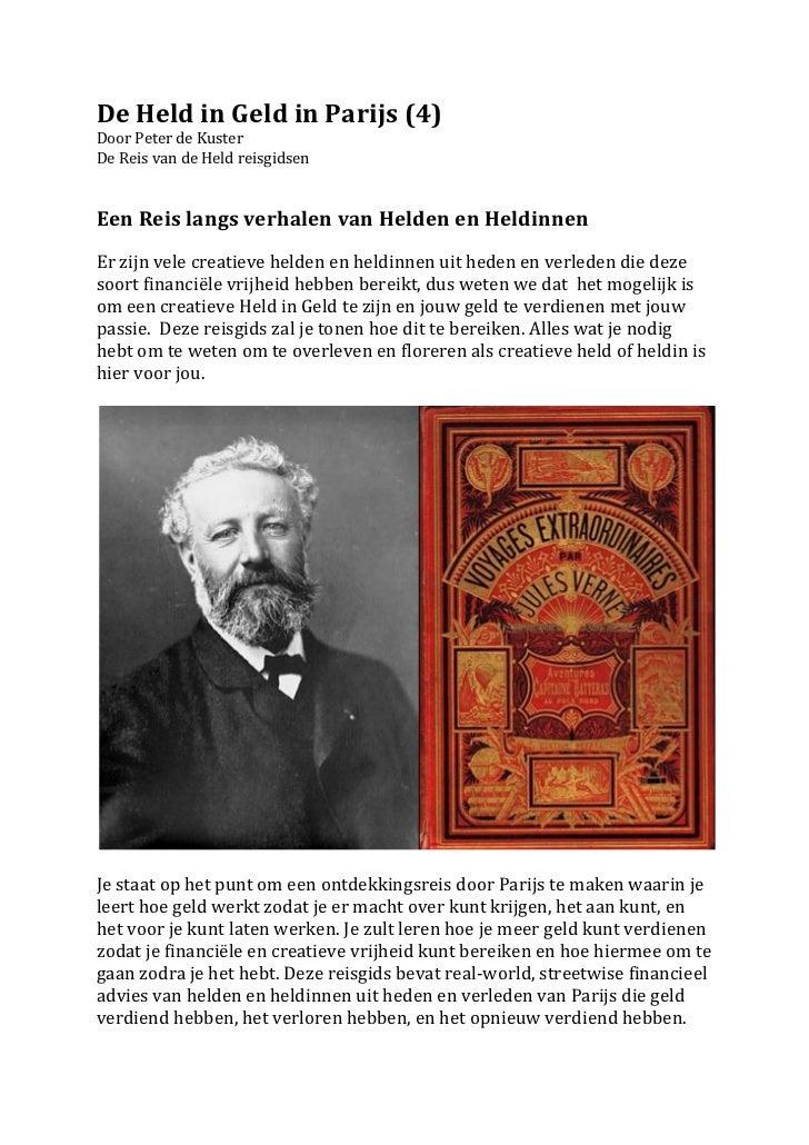 De Held in Geld in Parijs (4) Door Peter de Kuster De Reis van de Held reisgidsen   ...