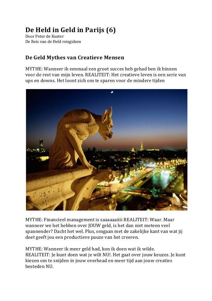 De Held in Geld in Parijs (6) Door Peter de Kuster  De Reis van de Held reisgidsen  ...