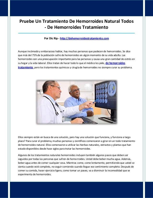 Pruebe Un Tratamiento De Hemorroides Natural Todos- De Hemorroides Tratamiento____________________________________________...