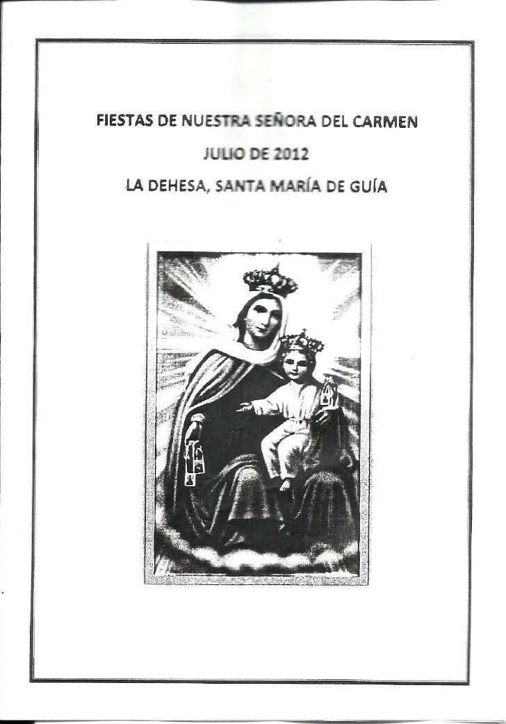 Programa Fiestas del Carmen - Dehesa