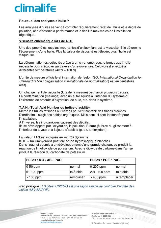 1 Bureau Suisse alémanique : Klosterhof 1, 8630 Rüti Tél. : +41 55 240 62 32 – Fax : +41 55 240 62 49 © Climalife – Prochi...
