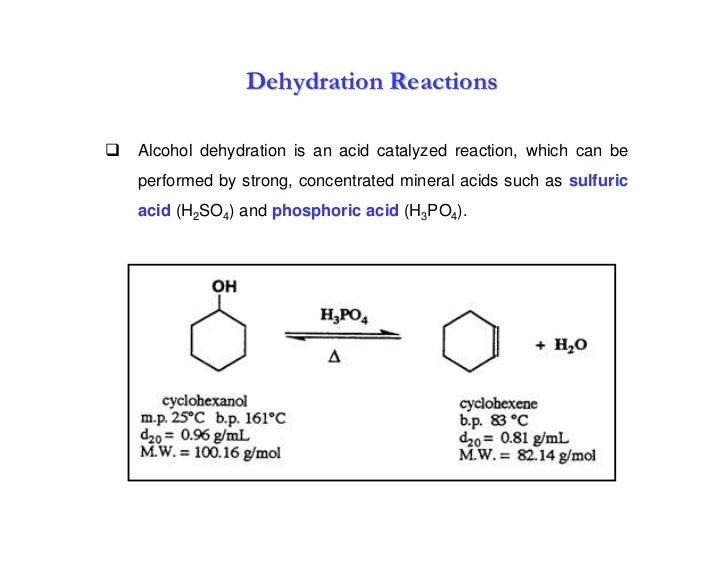 dehydrating cyclohexanol