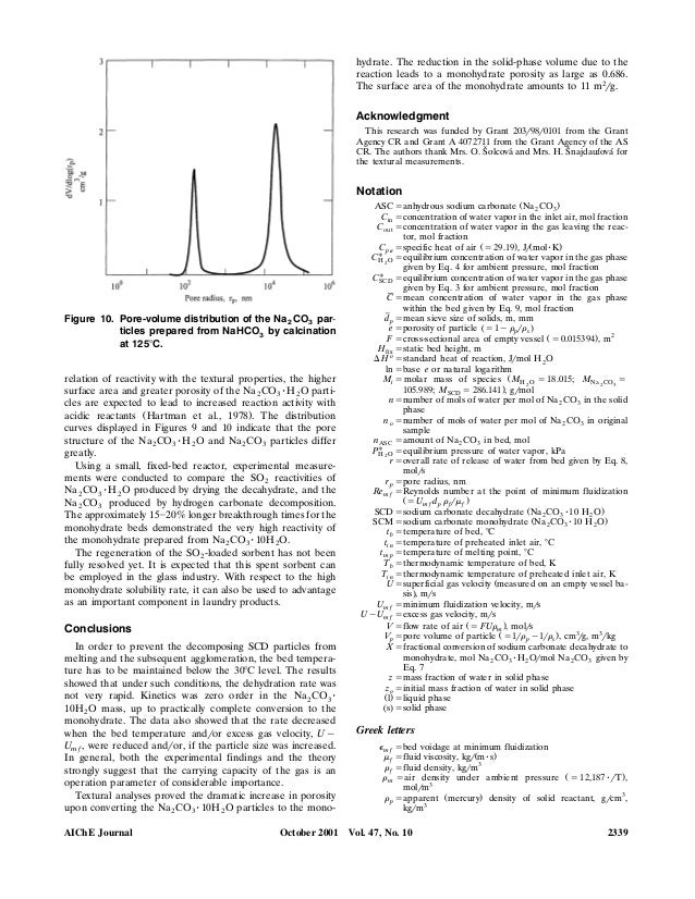 Dehydration Of Sodium Carbonate Decahydrate