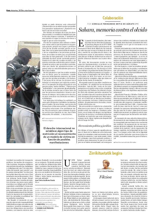 Deia Asteartea, 2013ko urtarrilaren 8a IRITZIA 5Deia Asteartea, 2013ko urtarrilaren 8 IRITZIA 5 E L pasado 10 de diciembre...
