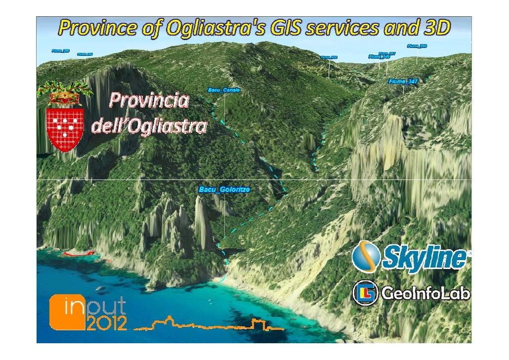 Province of Ogliastra's GIS services and 3D                                              Cagliari                         ...