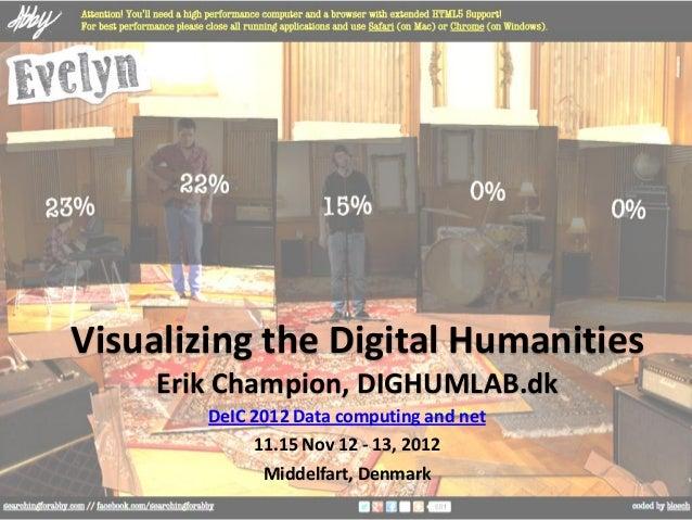 Visualizing the Digital Humanities     Erik Champion, DIGHUMLAB.dk        DeIC 2012 Data computing and net             11....