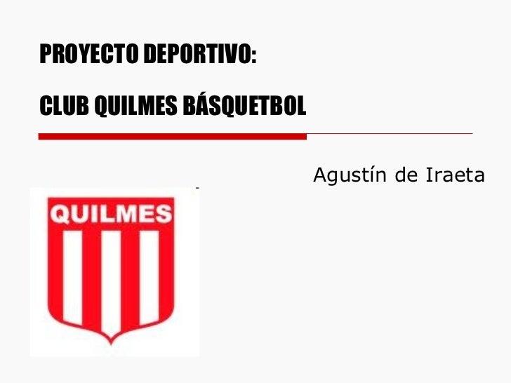 De iraeta agust n proyecto deportivo - Proyecto club deportivo ...