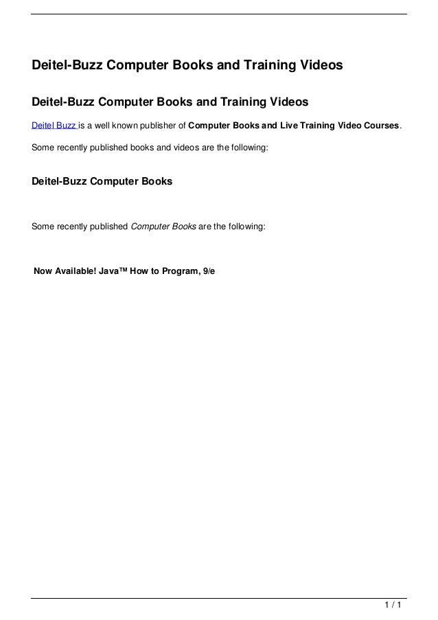 Deitel-Buzz Computer Books and Training Videos                                   Deitel-Buzz Computer Books and Training V...