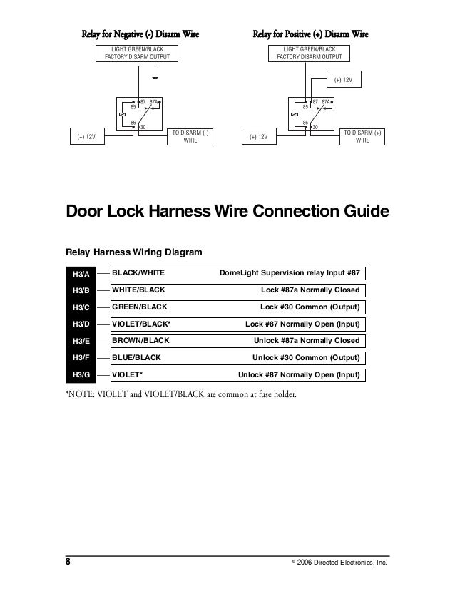 dei viper 3002 install eng rh slideshare net 97 Dodge Caravan Door Lock Wiring 97 Dodge Caravan Door Lock Wiring