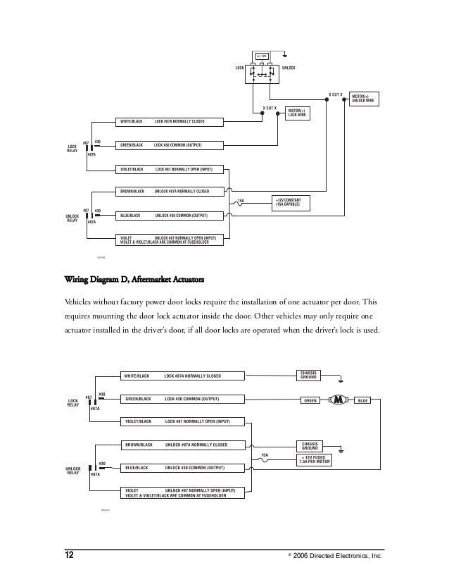 dei viper 3002 install eng rh slideshare net 95 GMC Door Lock Wiring Diagram Honda Power Door Locks Wiring