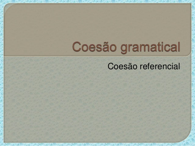 Coesão referencial