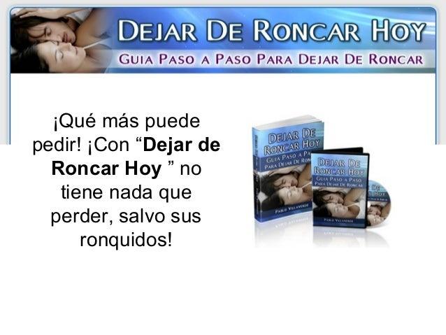 Dejar De Roncar Hoy - video dailymotion