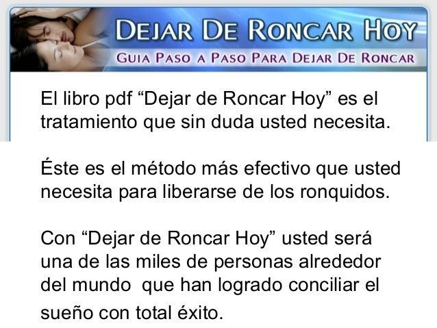 Voy a Dejar de Roncar Hoy