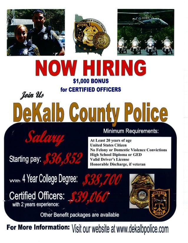 Georgia National Guard Job Opportunity: Dekalb Police Dept